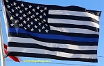 POLICE: Thin BLUE LINE USA Flag